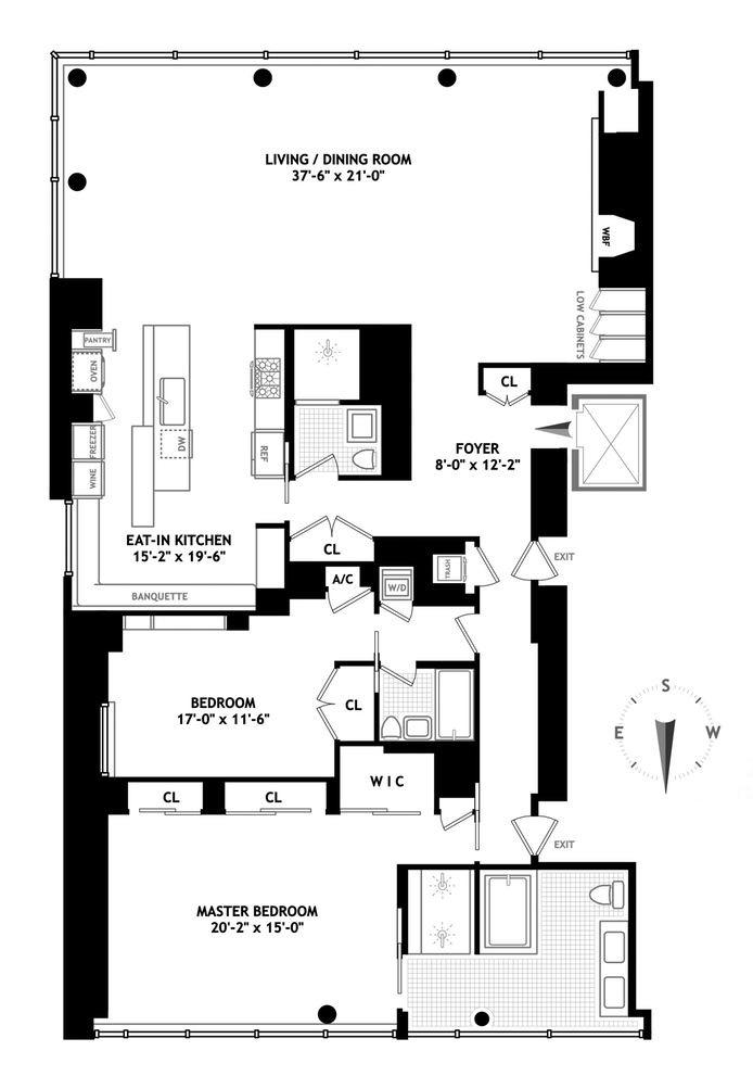 High Linefacing condo with ultramodern interiors wants