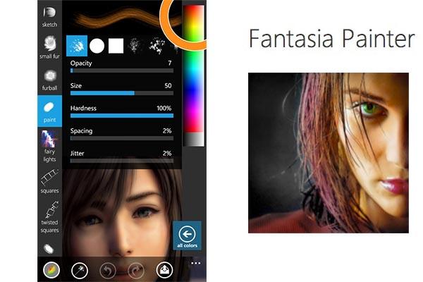 fantasia painter free Retocar fotos profesionalmente en Windows Phone con Fantasia Painter Free