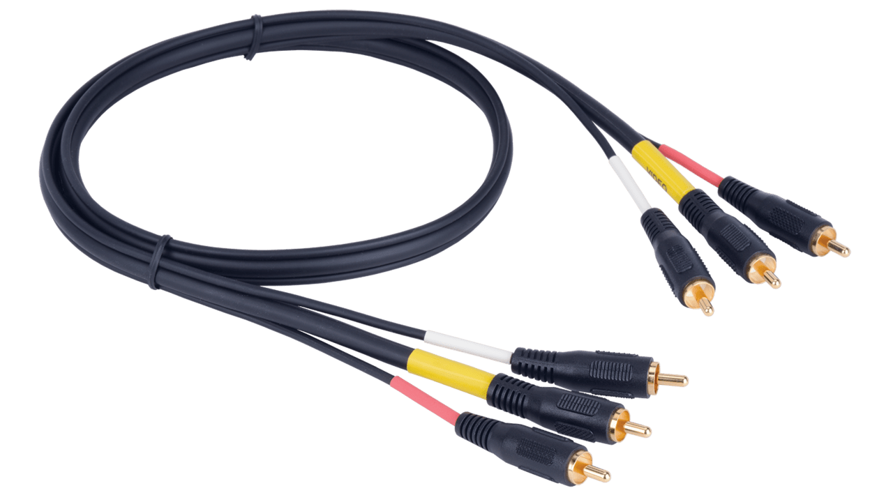 liberty z100 triplex rca audio video cable  [ 1280 x 720 Pixel ]