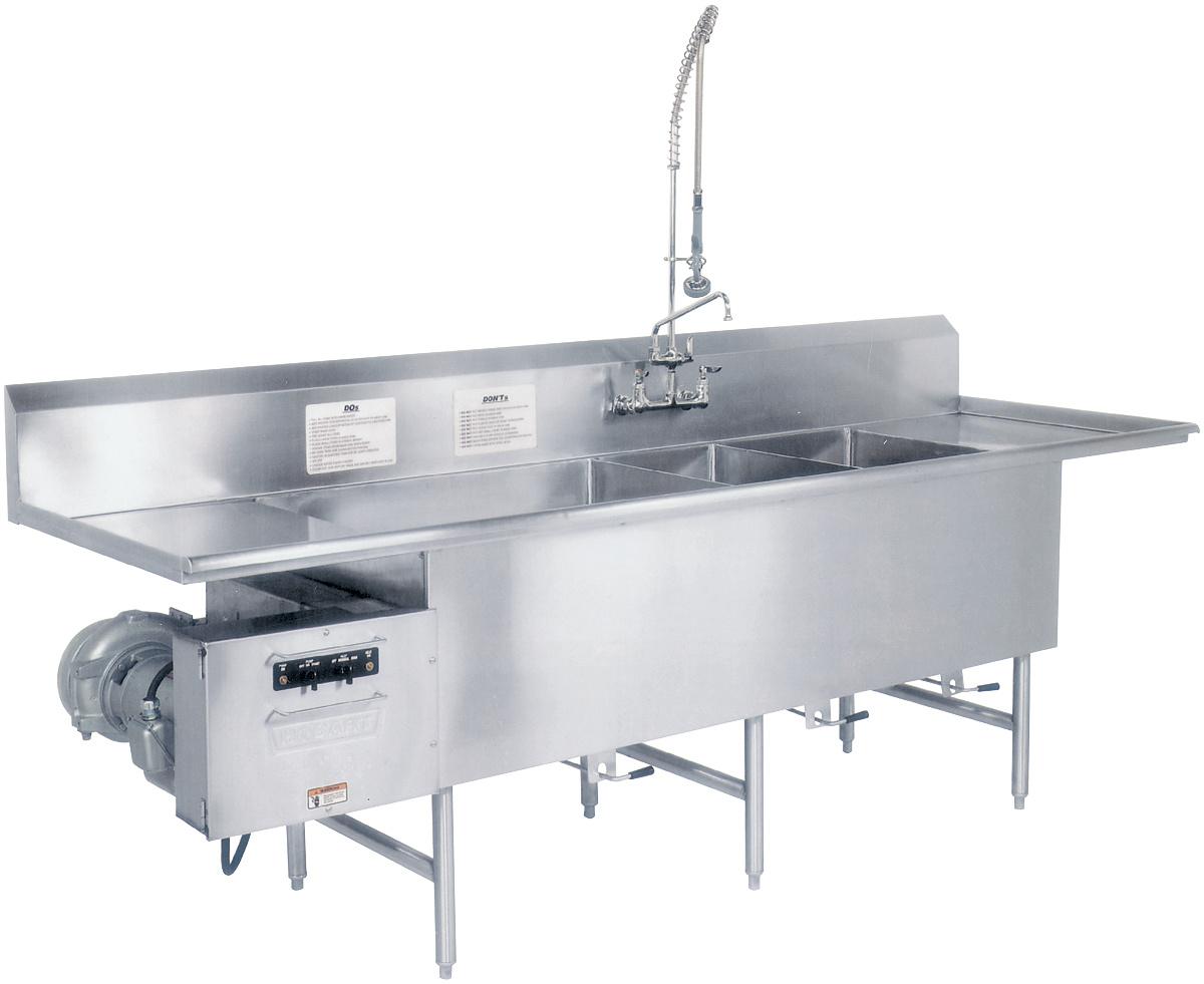 turbowash ii powered sink utensil
