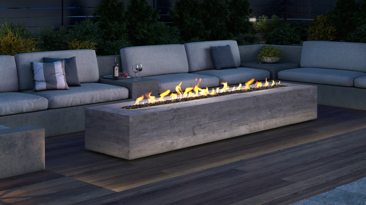 plaza outdoor gas fire pit heat glo