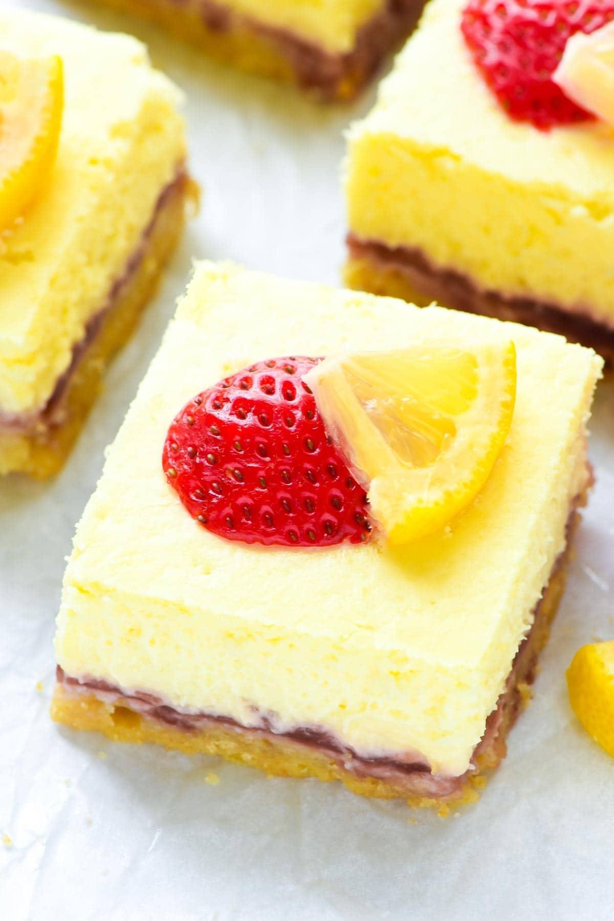 Strawberry Lemon Cream Cheese Bars