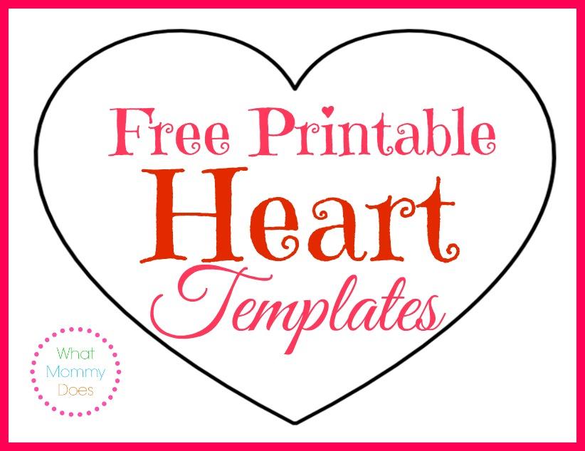 Free Printable Heart Templates Large Medium Amp Small