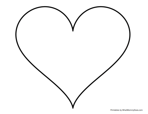super sized heart outline - extra