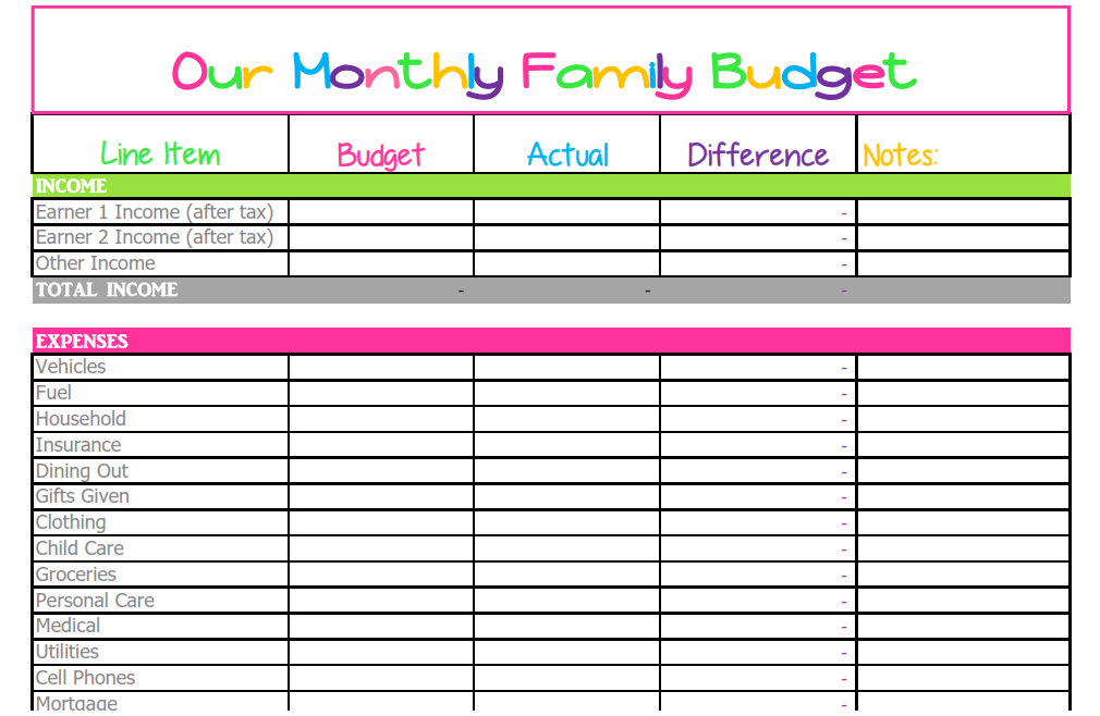 home budget templates free - April.onthemarch.co
