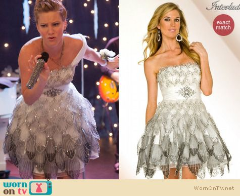 WornOnTV Brittanys white and silver petal dress on Glee  Heather Morris  Clothes and