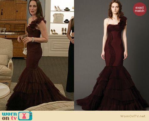 WornOnTV Victorias burgundy mermaid gown on Revenge  Madeleine Stowe  Clothes and Wardrobe