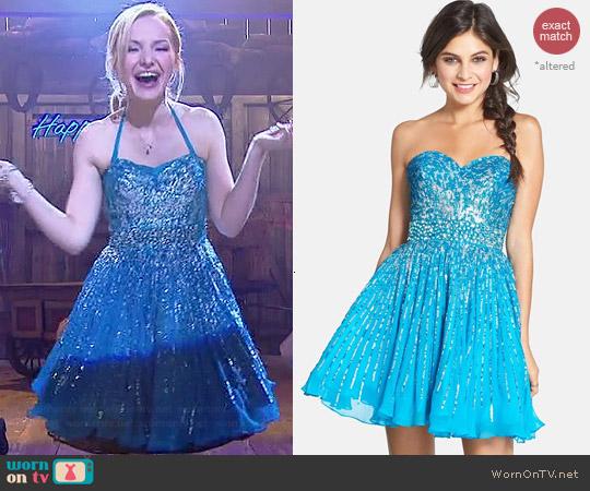 WornOnTV Livs blue embellished New Years dress on Liv