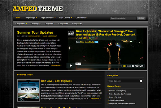 Amped Theme by StudioPress