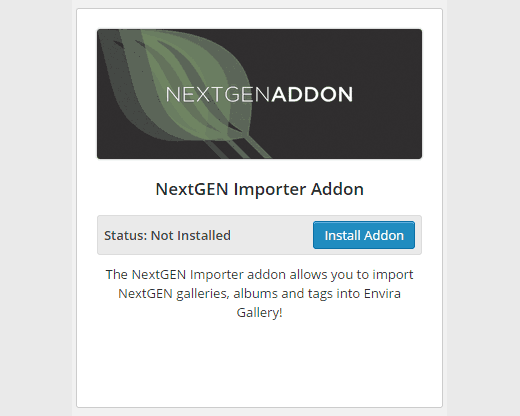 NextGEN Importer Addon plugin for Envira Gallery
