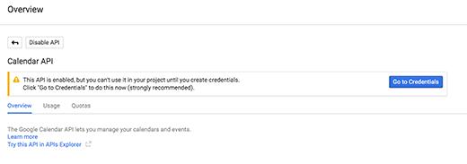 Generate API credentials