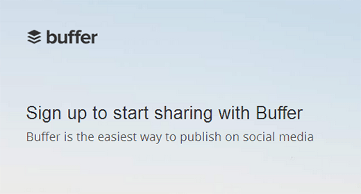 Buffer lets you schedule social media updates