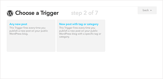 Choose any new post as your trigger