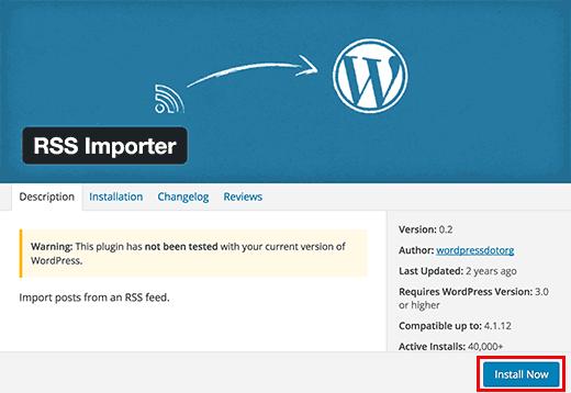 Install importer