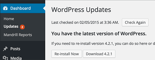 Mantenga su sitio de WordPress actualizado