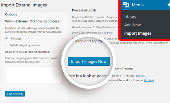 import images from wix to wordpress
