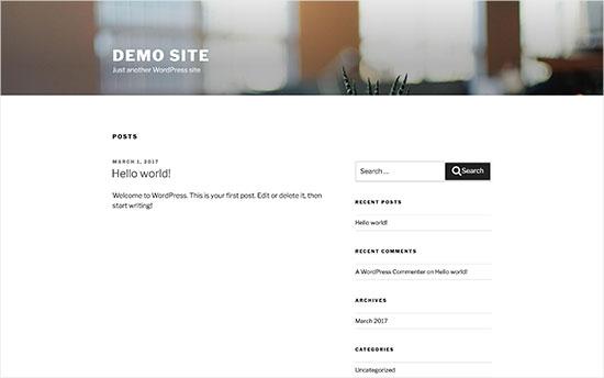 Standaard WordPress-thema