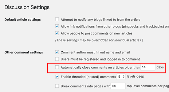 Disable comments on old posts