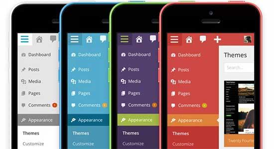 WordPress 3.8 mobile