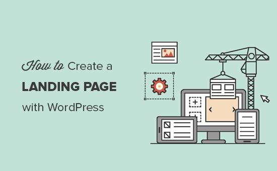 Membuat halaman arahan dengan WordPress
