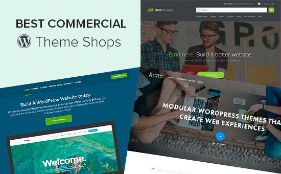 Best commercial WordPress theme shops