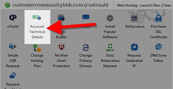 Finding your InMotion Hosting server number