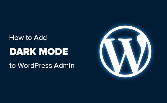 Adding dark mode to WordPress admin area