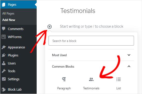 Add Custom Block to Page Editor