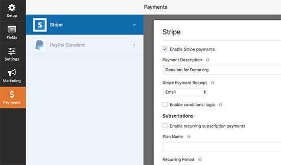 Aktifkan opsi pembayaran