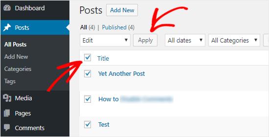 Edit Posts in bulk