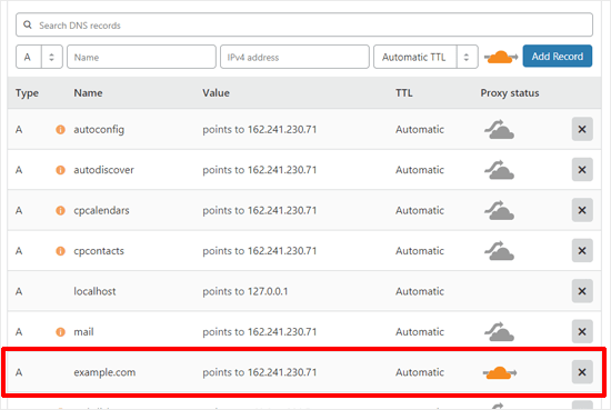 Verify DNS Records to Set up Cloudflare