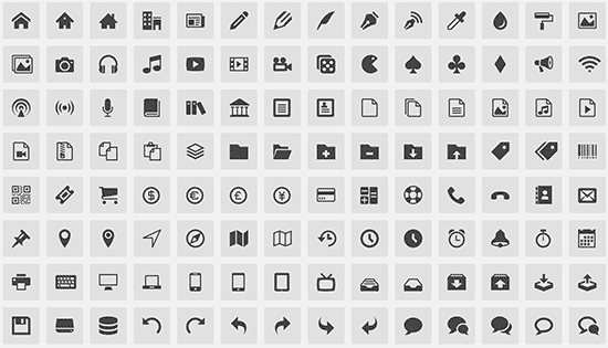 Icon fonts preview