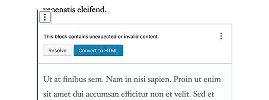 Convert to HTML