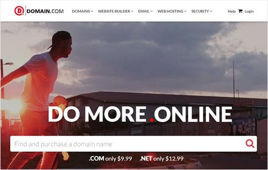 Mendaftarkan nama domain dengan Domain.com