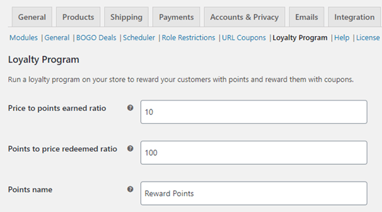 Configuring how your points work in your loyalty program