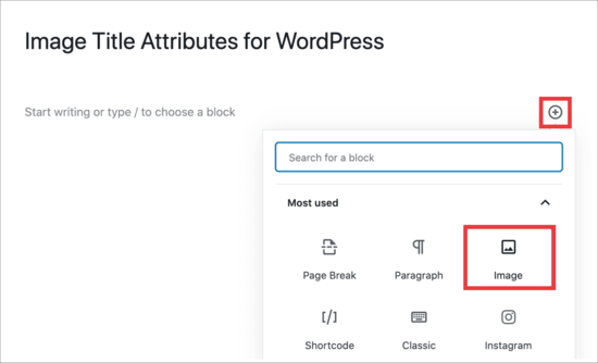 Add image block