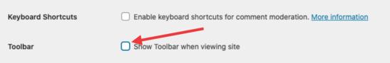 Disable WordPress Admin Bar