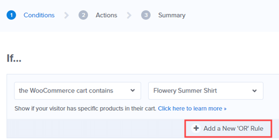 Adding a new OR rule to add other products