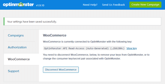 OptinMonster and WooCommerce are now connected