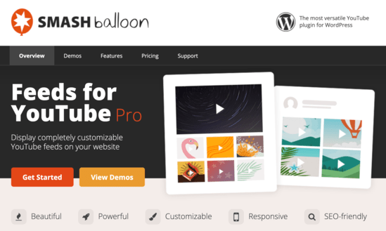 Smash Balloon for YouTube home page