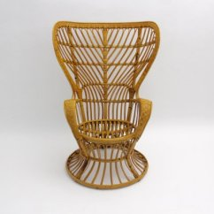 Rattan Peacock Chair Lucky Bums Camp Italian By Lio Carminati For Sale At Pamono 1