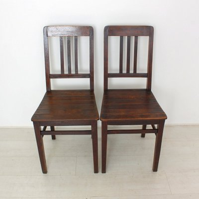 antique wood chair faux bamboo dining chairs vintage wooden 1920s set of 2 for sale at pamono 6