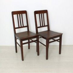 Vintage Wooden Chairs Rocking Chair With Cushions And Ottoman 1920s Set Of 2 For Sale At Pamono 1
