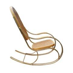 Rocking Chair Cane Dental For Sale Vintage Gilt Metal At Pamono 1
