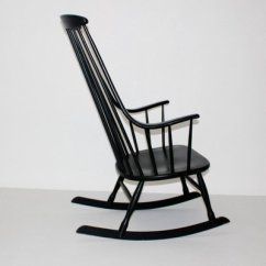 Black Rocking Chairs Side With Casters Grandessa Chair By Lena Larsson For Nesto 1960s 3