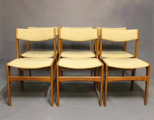 erik buck chairs leather dining with arms uk teak by buch 1960s set of 6 for sale at pamono 1