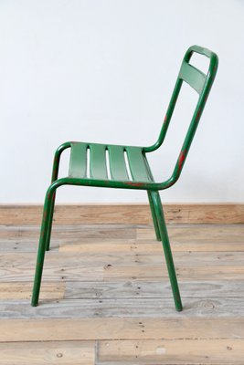 green metal bistro chairs navy ready room chair for sale vintage at pamono 2