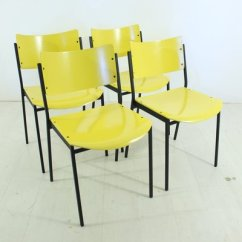 Yellow Chairs For Sale Tiny Love Bouncer Chair 1960s Set Of 4 At Pamono 1