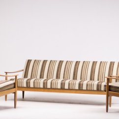 Scandinavian Living Room Furniture Center Table Set Mid Century Suite With Folding Sofa For 1