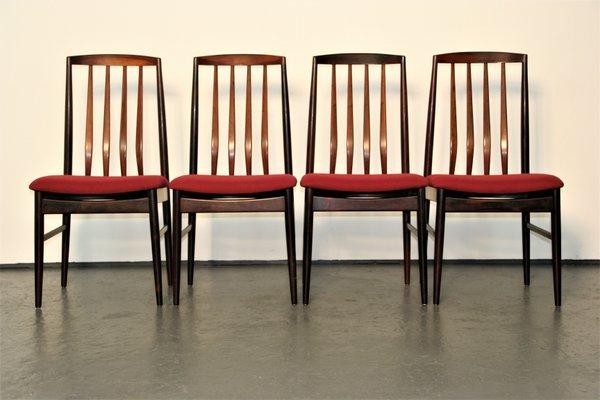 chaises de salon modernes en palissandre de vamo sonderborg danemark set de 4
